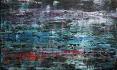 "Koen Lybaert; Oil 2014 Painting ""abstract N° 984 - SOLD [UK]"""
