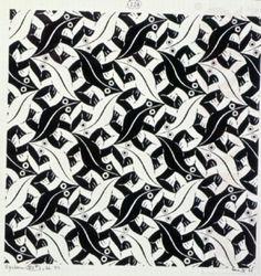 Delft, Mc Escher Art, Repetition Art, Art Optical, Digital Museum, Principles Of Art, Collaborative Art, Dutch Artists, Chalk Pastels