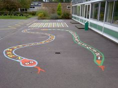painted playground games | ... » Playground Markings » Traditional Painted Playground Markings @Joni Stockton @Chelsea Irene Great idea!! We should do this!!