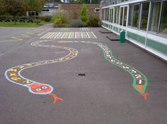 painted playground games | ... » Playground Markings » Traditional Painted Playground Markings