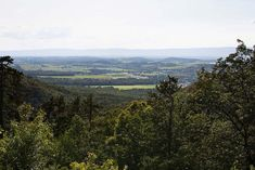 Panoramic view of the broad Cumberland Valley from South Mountain to Blue Mountain at King's Gap.