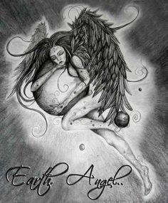 Earth Angel Sketch 2009 by Saysha Nicolson - immortalart.co.za