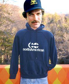 vintage 70s hoody sweatshirt NORTH AMERICAN van lines moving hoodie raglan Medium Small navy blue 80s by skippyhaha