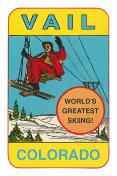 Ski poster - Vail, Colorado