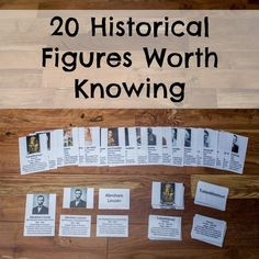 FREE 20 Historical Figures Worth Knowing Cards (Reg $6!) from sponsor @educents #afflink #homeschoolfreebies  Set of biographical cards featuring 20 of the most influential figures in world history (including 7 women) such as Socrates, Leonardo da Vinci, Mohandas Gandhi, and Eleanor Roosevelt. Montessori-inspired, these 5-part cards are perfect for independent study or to be used in a memory-style matching game.