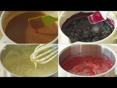 6 salsas y cremas de postre (frambuesa, arándano, 2 caramelos, crema pastelera, cuajada de limón) - YouTube
