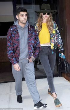 Just the two of us: Gigi Hadid and Zayn Malik were spotted out in the NoHo neighbourhood of New York City on Wednesday