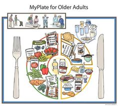 """Nutrition scientists at the Jean Mayer USDA Human Nutrition Research Center on Aging  (USDA HNRCA) at Tufts University are introducing today  the MyPlate for Older Adults which corresponds with MyPlate, the federal government's new food group symbol.  MyPlate for Older Adults calls attention to the unique nutritional and physical activity needs associated with advancing years."""