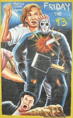 Shitty Ghana Friday the 13th Bootleg Poster