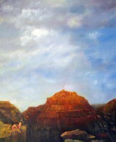 """Canyon Overlook"" original painting."