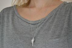 Shell Necklace Silver Seashell Necklace Murex Sea door Discoluxe