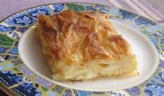 Filo Pastry With Feta (Gibanica) Gibanica Recipe, Filo Pastry, Nigella Lawson, Square Cakes, Cake Tins, Vegetarian Cheese, Sweet And Salty, Feta, Bakery