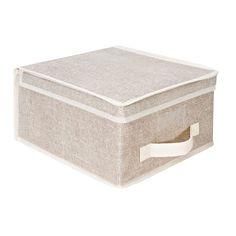 International Kennedy Home Collection Beige Medium Storage Box
