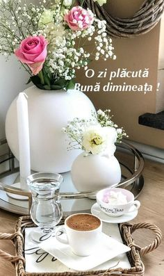 Good Morning, Table Decorations, Tea, Furniture, Home Decor, Coffee, Quotes, Beauty, Beautiful Landscapes