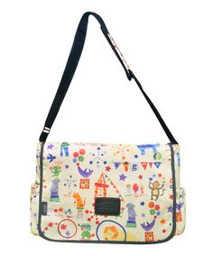 This Two Lumps of Sugar Circus Diaper Messenger Bag by Two Lumps of Sugar is perfect! #zulilyfinds