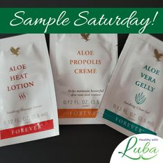 Sample Saturday – Aloe Vera Samples - Healthy with Luba  Today I am giving away five sets of some of my favorite products.  Go here to learn more about them and to enter to win.   #aloevera #samples #personalcare #workoutathome #sunburn Workout Session, Beautiful Textures, Hand Sanitizer, Aloe Vera, At Home Workouts, Lotion, Personal Care, My Favorite Things, Learning