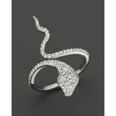 e5e9704bf7d Bloomingdale s Diamond Snake Ring in 14K White Gold