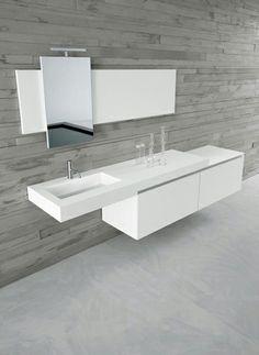 Collezione bagno di design contemporaneo, Rivestimenti mobili bagno