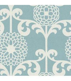 Waverly Upholstery Fabric-Fun Floret  Spa