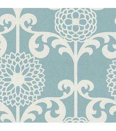 Waverly Upholstery Fabric-Fun Floret  Spa