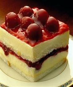 Recipe for Cherry Angel Cream Cake - Cherry angel cream cake is one of the tastiest cakes. It is a perfect blend of cream, milk and cherry.