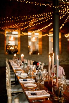 Arches in Halifax Warehouse Fairy Lights Long Tables Decor Industrial Mill Wedding Hayley Baxter Photography  #StylishWedding #HappyWedding #IndustrialWedding #MillWedding #Wedding #FairyLights #LongTables #WeddingDecor Wedding Lighting, Wedding Decorations, Table Decorations, Industrial Wedding, Happy Family, Fairy Lights, Bible, Stylish, Biblia