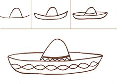 5/5/13 Sombrero drawing how-to.  Could use for Cinco de Mayo.  We did!