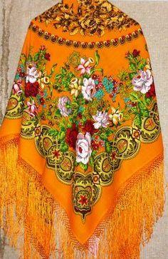 russian kerchief-all colour to joys   Pavlovsky Posad