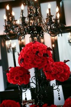 Love the lighting and maybe change the flowers to decorated pumpkins.