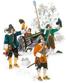 """New Model Army, 1645-60: Gun crew, c. 1645-50"""