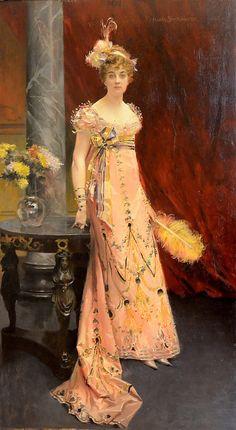 Portrait of Duchess Dora Leuchtenberskaya, Francois Flameng, 1896