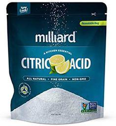 Bath bomb Milliard Citric Acid 5 Pound - 100% Pure Food Grade NON-GMO Project VERIFIED (5 Pound)