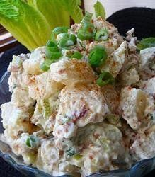 Recipe for Beaumont Ranch Potato Salad - I have kept this recipe a ranch secret, but I have decided to share it. This is my variation of a French classic garlic potato salad.