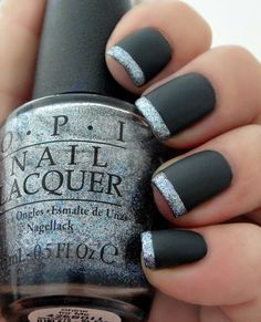 OPI Manicure Lot of 3 Full Size Bottles to make a 50 Shades Of Grey Matte French Manicure Included in this lot: OPI Dark Side Of The Mood
