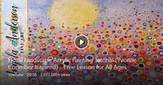 Paint And Sip, Acrylic Painting Tutorials, Bing Video, Art For Kids, Landscape, Floral, Inspiration, Party, Art For Toddlers