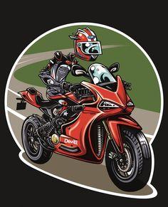 Bike Drawing, Motorcycle Art, Lightning Mcqueen, Sport Bikes, Motorbikes, Cartoons, Joker, Posters, Stickers