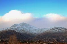 La Maliciosa en invierno (y abajo El Boalo, Matalpino...)