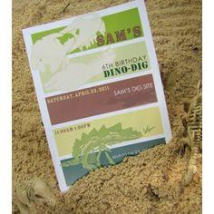Dino Dig Dinosaur Birthday Party Printable Invitation