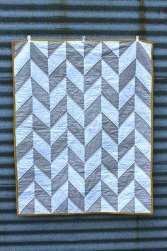grey and white herringbone quilt by CB Handmade - inspiration