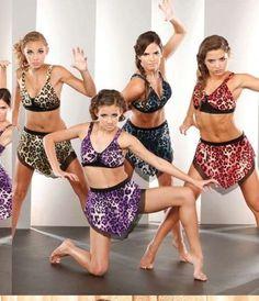 Marcea Animal Print Costume Dance Jazz Bra Skirt 54690 Girls 4-6 8-10 Adult S M #Marcea