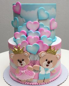 Best cupcakes decoration ideas girls valentines day ideas - birthday /Communion/ Christmas cakes n tutorials - Fancy Cakes, Cute Cakes, Pretty Cakes, Beautiful Cakes, Amazing Cakes, Fondant Cakes, Cupcake Cakes, Rodjendanske Torte, Baby Reveal Cakes