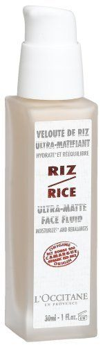 L'Occitane Veloute de Riz Ultra-Matifiant (Ultra Matte Face Fluid, Rice), 1-Ounce Bottle by L'Occitane. $34.95. **No U.S. Sale Tax** 1 oz / 30 ml. L'Occitane Red Rice Ultra-Matte Face Fluid. New in Box. L'Occitane Ultra-Matte Face FluidWith an ultra light and velvety texture, this moisturizer* is recommended for combination and oily skin. Enriched with rebalancing zinc and red rice extract from Camargue (located just outside Provence in France), as well as astringen...