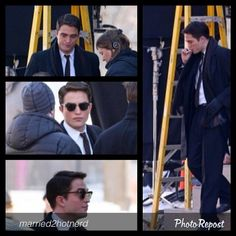 """by @married2hotnerd """"Rob on set of his new movie LIFE"""