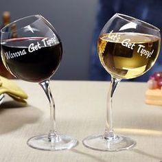 Let's Get Tipsy Wine Glasses