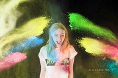 Powder Paint and Colour Run Photos Party idea in west sussex