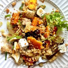 Quirky Cooking Quinoa Salad, Thermomix Style! Super easy to make and you cook everything in one go using the varoma.