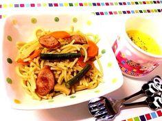 次女ごはん☆1才5ヶ月 - 3件のもぐもぐ - 和風パスタ、コーンスープ by kikamam