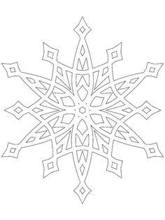 Раскраска Снежинка ,снежинка, ,узоры,
