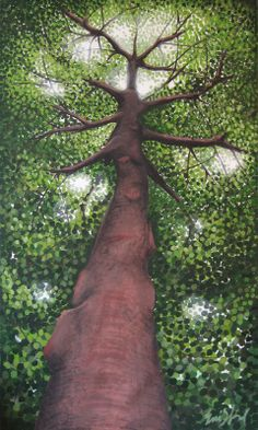 How to Paint a Tree | Tree painting, acrylic on canvas