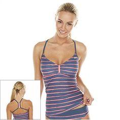 Nike Striped Racerback Tankini Top - Women's Size 8 Slate Nike http://www.amazon.com/dp/B00HG59VJ8/ref=cm_sw_r_pi_dp_ZUplwb1S3QR3P